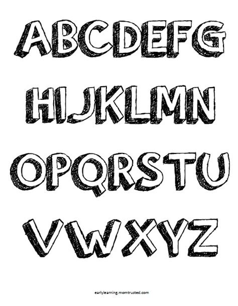 Printable Pop Up Letters | pop up letters alphabet coloring pages uppercase and