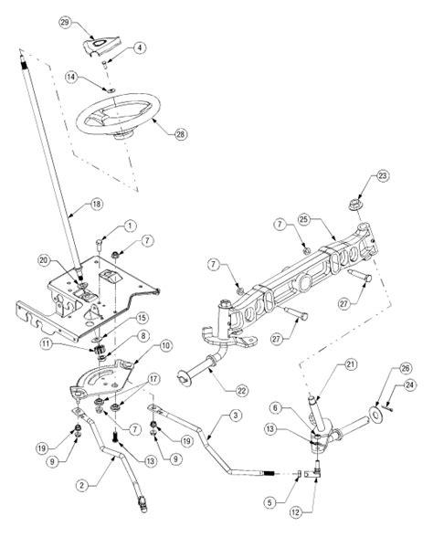 cub cadet lt1042 parts diagram cub cadet lt1045 steering diagram