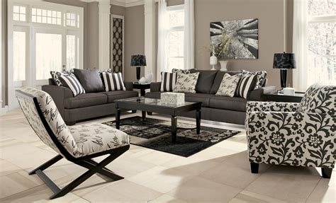 living room setting levon charcoal living room set from ashley 73403