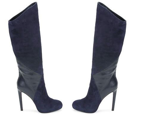 navy blue high heel boots qu heel