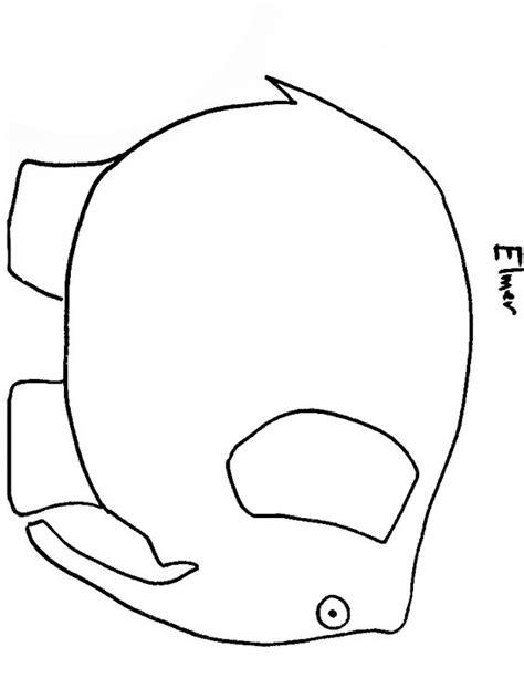 elmer the elephant template printable teaching book