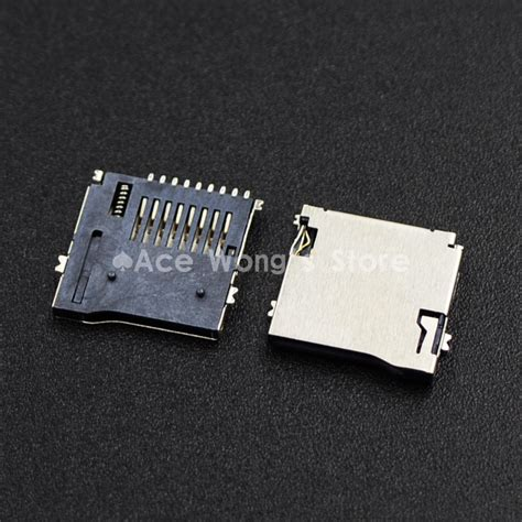 Memory Card Slot 9pin micro sd card slot connectors size 14 15mm tf card deck fit for phone tablet vehicle