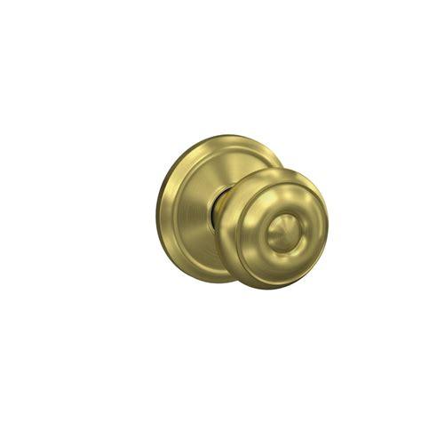 schlage locking interior bed bath knob georgian satin schlage custom georgian satin brass alden trim combined