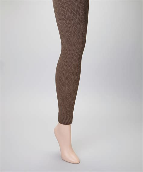 cable knit tights 2 pack of sofra s seamless cable knit fleece lined