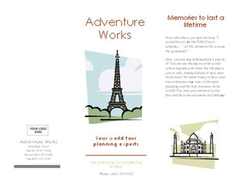 Travel Brochure Make A Travel Brochure Template