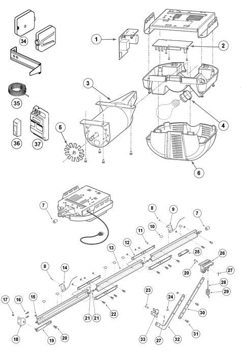 genie excelerator garage door opener parts schematic