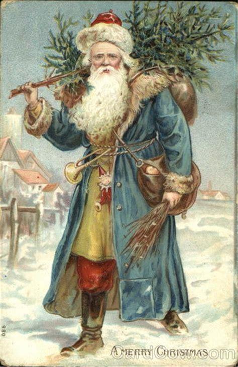 german santa  blue robe santa claus