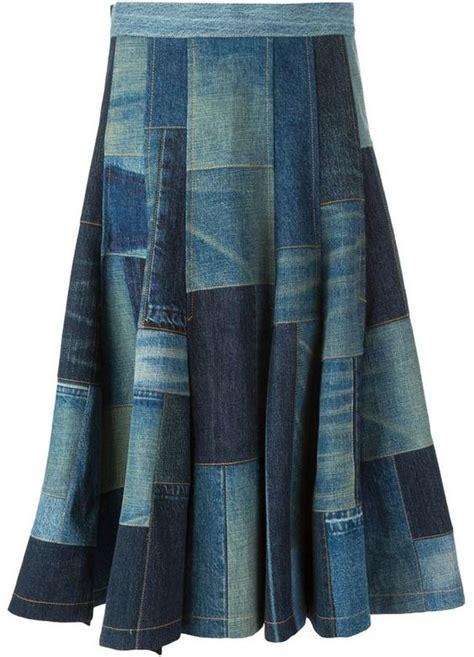 junya watanabe comme des gar 231 ons patchwork denim skirt