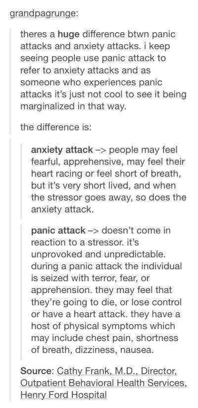anxiety  panic attacks truer  true