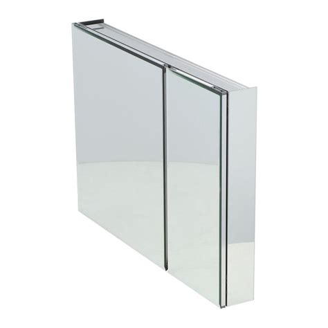 frameless mirrored medicine cabinet recessed pegasus 36 in w x 26 in h frameless recessed or surface