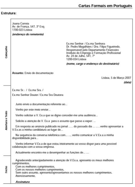 carta formal em portugues de portugal l 237 ngua portuguesa comunica 231 227 o empresarial carta comercial