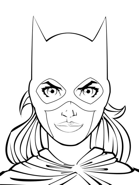 batgirl coloring pages batgirl and coloring pages