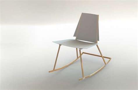 Papercraft Chair - crisp papercraft perches air rocking chair
