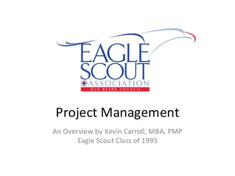 Carroll School Of Management Mba Fees by Project Management For Boy Scouts