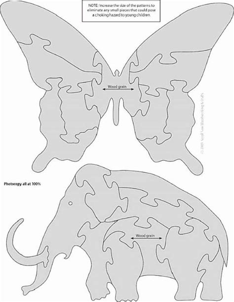 jigsaw patterns woodworking plans animal puzzles for the scroll saw woodworking plans