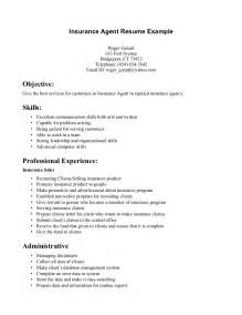 Insurance Resume Exle by Insurance Resume Recentresumes