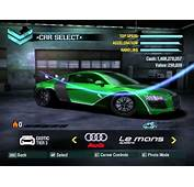 Need For Speed Carbon Pagani Zonda F &amp Audi Le Mans