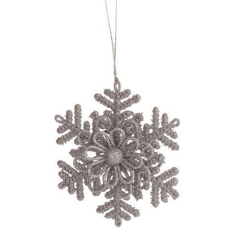 silver glitter snowflake ornament christmas ornaments