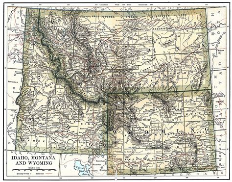 idaho montana map wyoming idaho montana sights