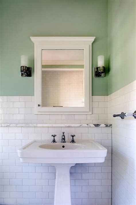 Bathroom Sink Shelves Floating White And Green Bathroom Design Design Ideas