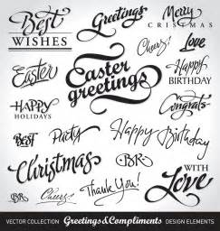 vector decorative word free vector 4vector