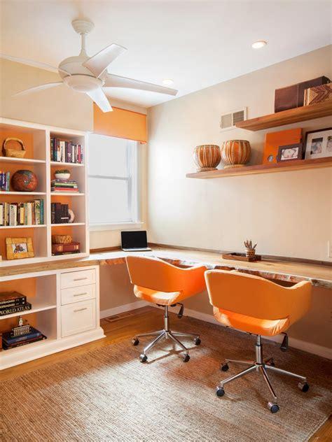 Orange Office by Orange And White Home Office Cuker Hgtv