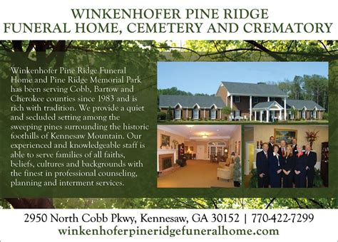 winkenhofer pine ridge funeral home kennesaw