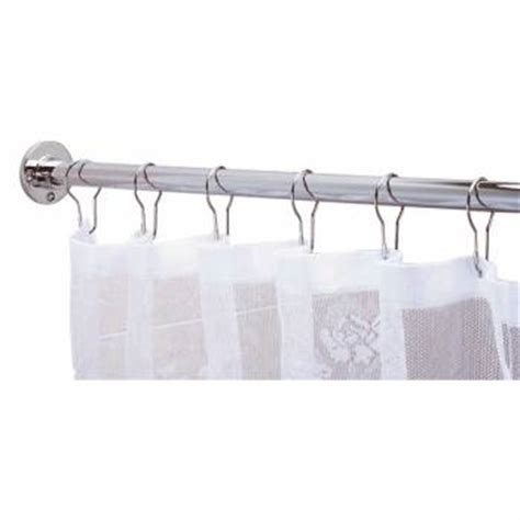 long shower curtain rods shower curtain rod bright chrome 6 feet long