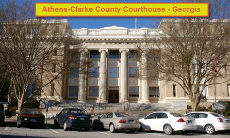 Arrest Records Athens Ga Clarke County Clerk Of Court In Athens With Autos Post