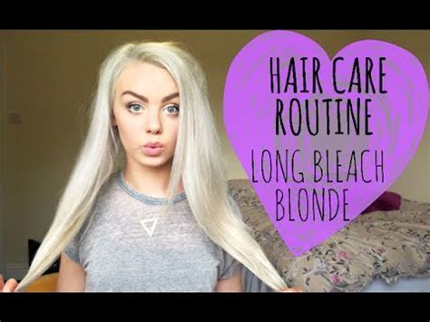 how to get long blonde hair acnl my hair care routine long bleach blonde hair youtube