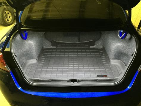 led trunk light and floor liner installed