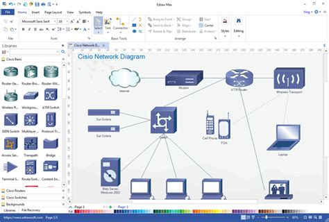 network map generator free network diagram maker
