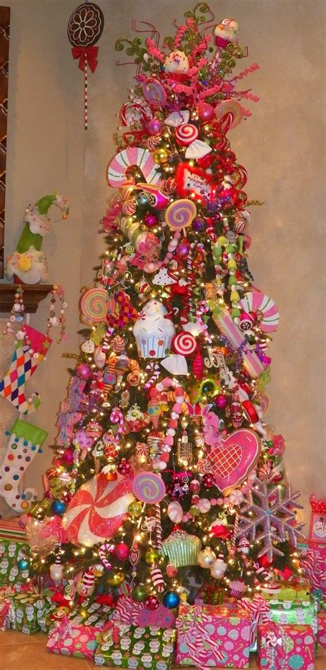 candyland theme tree christmas pinterest