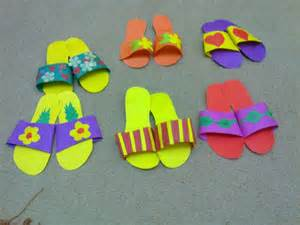 kindergarten craft slippers craft idea for crafts and worksheets for