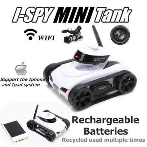 Wifi Tank Mini Ios Android Remote Rc Rechargeable 777 270 wifi i mini rc tank car with remote real time transmission