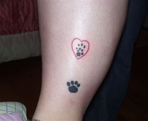 paw print heart tattoo designs paw print tattoos designs ideas and meaning tattoos for you