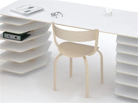 minimalist working desks from pianca digsdigs minimalist table and shelves to organize a perfect work