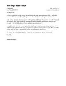 standard cover letter sle part time sales associates cover letter exles retail
