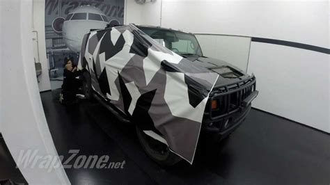Camouflage Folie Scooter by Wrapzone Hummer H2 Camo Wrap