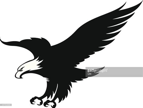 logo black and white vector eagle in black and white mascot vector getty images