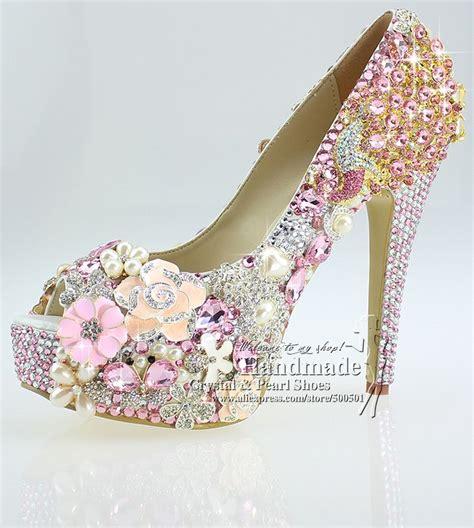 Hochzeit Schuhe Kaufen by Rosa Hochzeits Schuhe 2015 Heel Toe