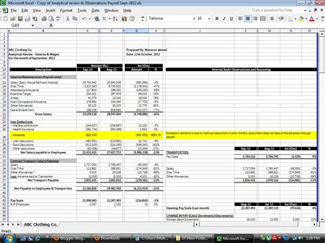 download free internal audit working papers analytical