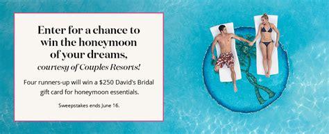 Honeymoon Sweepstakes 2014 - david s bridal win your honeymoon sweepstakes familysavings
