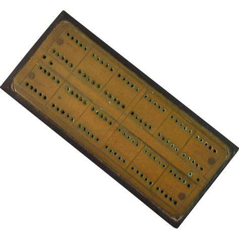 Jo In Scratching Pad L Intl cribbage board with brass top and bakelite base the