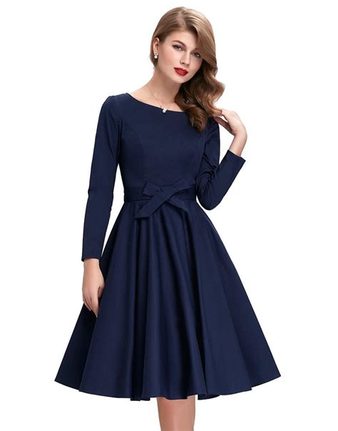 greta navy blue vintage dress 1950sglam