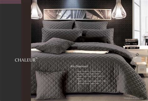 Charcoal Grey Quilt by Luxton Linen Quilt Cover Sets