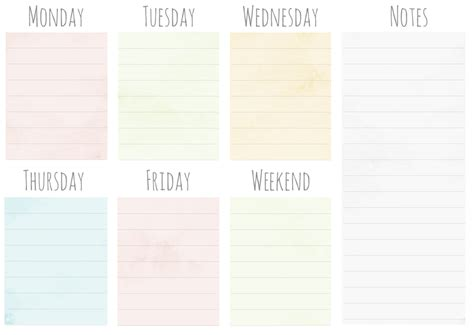 daily planner template illustrator free weekly planner printables elan creative co