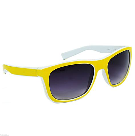 yellow sunglasses neon yellow sunglasses cool retro vintage 80 s look full