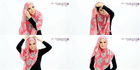 tutorial segi empat menutup dada hijab style daily hijab tutorial