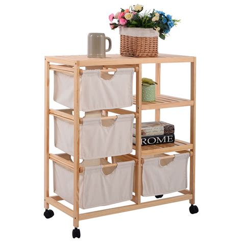 Clothes Rack With Drawers by 2 Section Storage Shelf Unit With 4 Fabric Drawers